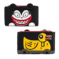 LFWDWA1329-LOUNGEFLY NBX SCARY TEDDY & UNDEAD DUCK WALLET