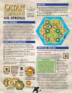 MFG3116-CATAN SCENARIOS: OIL SPRINGS