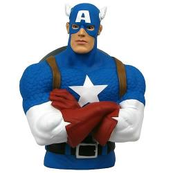 MG67013-BUST BANK MVL CAPTAIN AMERICA