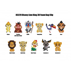MG85220-3D FOAM BAG CLIP LION KING (24