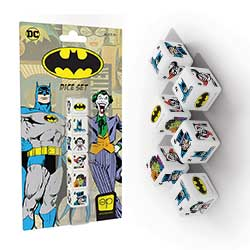 MONAC010103-BATMAN 6PC DICE SET