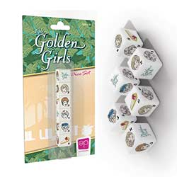 MONAC118506-GOLDEN GIRLS 6PC DICE SET