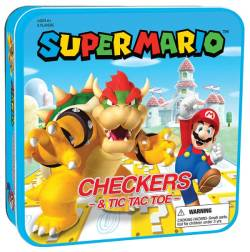 MONCM005637-CHECKERS/TTT SUPER MARIO VS BOWSER (TIN)