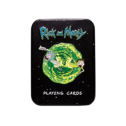 MONPC085434T-PLAYING CARDS TIN RICK & MORTY