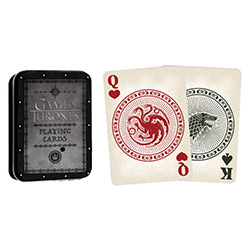MONPC104681-PLAYING CARDS TIN GAME OF THRONES