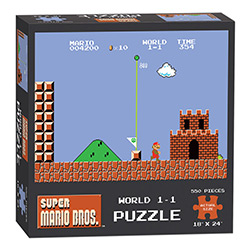 MONPZ005488-PUZZLES 550PC: SUPER MARIO BROS WORLD 1-1