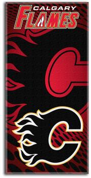 NWHBETO1CF-NHL BEACH TOWEL 30X60- FLAMES