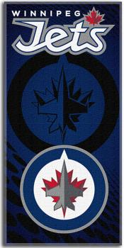 NWHBETO1WJ-NHL BEACH TOWEL 30X60- JETS
