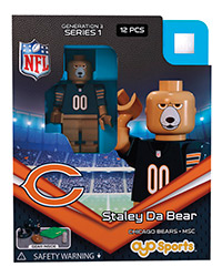 OYOFCBSDB-NFL FIG BEARS STALEY DA BEAR M