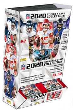PNF20SD-2020 PANINI NFL STICKER COMBO DISPLAY
