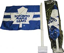 SACFSTML-CAR FLAG 2 SIDE MAPLE LEAFS