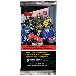 TOH21SD-2021 TOPPS NHL STICKER DISPLAY
