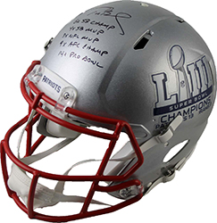 19 TRISTAR HT TOTALLY TOM BRADY AUTO HELMET