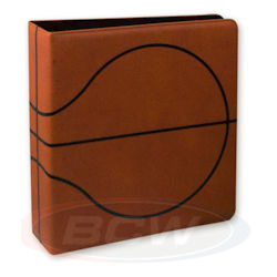UBCWALB3PBKBRN-3'' BINDER BASKETBALL TEXTURED