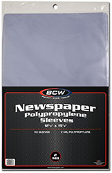 UBCWSSLVNP12X19-12 X 19 NEWSPAPER SOFT SLEEVE