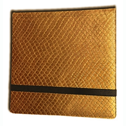 ULGBN12DHO-12 POCKET 3X4 DRAGON HIDE BINDER GOLD