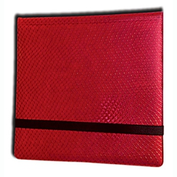 ULGBN12DHR-12 POCKET 3X4 DRAGON HIDE BINDER RED