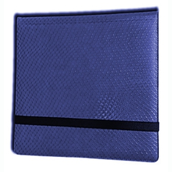 ULGBN12DHU-12 POCKET 3X4 DRAGON HIDE BINDER BLUE