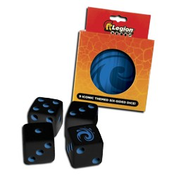 ULGDCT126-9-PACK D6 DICE TIN ICONIC WATR