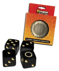 ULGDCT129-9-PACK D6 DICE TIN ICONIC SUN
