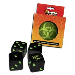 ULGDCT130-9-PACK D6 DICE TIN ICONIC BIOH