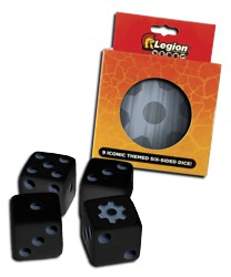 ULGDCT131-9-PACK D6 DICE TIN ICONIC GEAR
