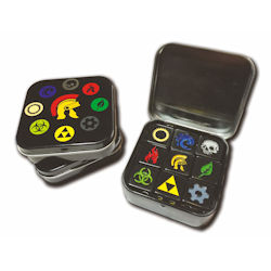 ULGDCT132-9-PACK D6 DICE TIN ICONIC ASST