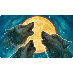 ULGPME054-PLAY MAT 3 WOLF MOON (RUBBER)