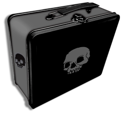 TIN ICONIC SKULL (BLACK)
