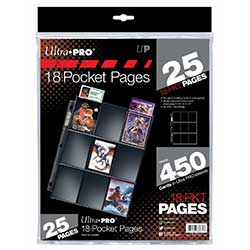 UP1825S-PAGES 18 POCKET SILVER TOPLOADING