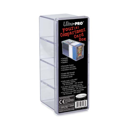 UP4CB-4 COMPARTMENT CLEAR BOX