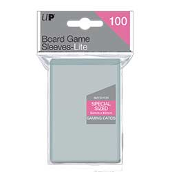 UPBGCSL5480-BOARD GAME CARD SLEEVES LIGHT 54 X 80MM