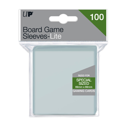 UPBGCSL6969-BOARD GAME CARD SLEEVES LIGHT 69 X 69MM