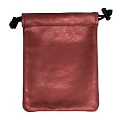 UPDIBSR-DICE BAG SUEDE RUBY (RED)