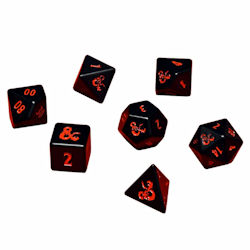 UPDIDDHM7RPG-D&D HEAVY METAL 7 SET OF DICE