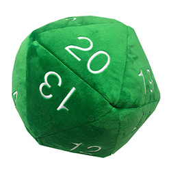 UPDIPJD20G-JUMBO D20 PLUSH DICE GREEN