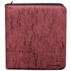 UPPBPSPR-12 POCKET PRO BINDER PREMIUM SUEDE RUBY (RED)