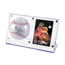 USSABCH-BALL/CARD HOLDER ACRYLIC