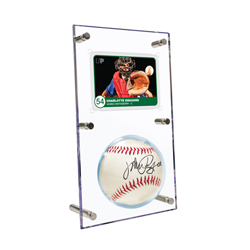 USSABCHF-BALL/CARD HOLDER ACRYLIC FLIP