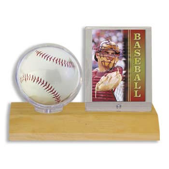 USSWBBC-BALL/CARD HOLDER LIGHT WOOD