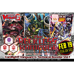 VGEGTCB01-CARDFIGHT VANGUARD G TECHNICAL BOOSTER 1: RECKLESS
