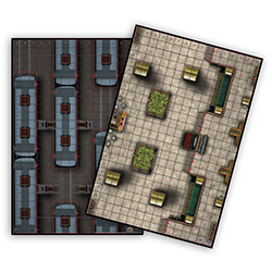 WK73077-HEROCLIX TRAIN STATION/YRD MAP