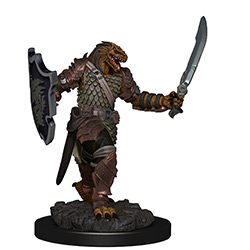 WKDD93006-D&D ICONS PREM FIG DRAGONBORN FEMALE PALADIN