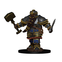 WKDD93010-D&D ICONS PREM FIG DWARF MALE FIGHTER