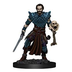 WKDD93024-D&D ICONS PREM FIG HUMAN WARLOCK MALE