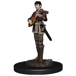 WKDD93028-D&D ICONS PREM FIG HALF-ELF BARD FEMALE
