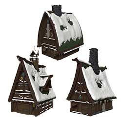 WKDD96023-D&D ICONS ICEWIND DALE TEN TOWNS PAPERCRAFT SET