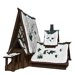 WKDD96048-D&D ICONS ICEWIND DALE LODGE PAPERCRAFT SET