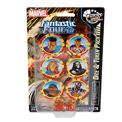 WKMH84755-MARVEL HEROCLIX FANTASTIC FOUR DICE & TOKEN PACK